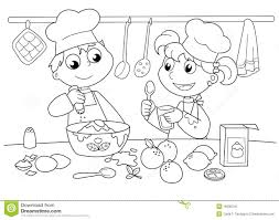 young kids cooking stock photo image 19330240