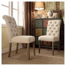 White Tufted Dining Chairs Dining Room The Most White French Table With Black Top And Tufted