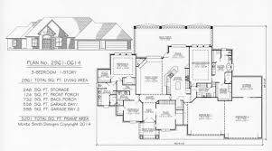 Four Bedroom House Plans One Story Over 2800 Sq 3 Bedroom House Plans