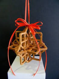 3d gingerbread wood ornament compound cuts on the