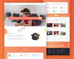 landing page templates for blogger school website landing page template psd download download psd