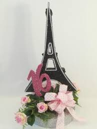 eiffel tower centerpieces sweet sixteen or quinceanera styrofoam centerpieces designs by ginny