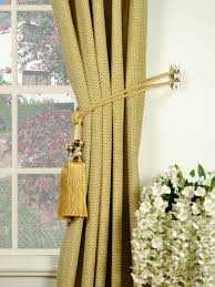 Tassels For Drapes Coral Regular Spots Single Pinch Pleat Chenille Curtains