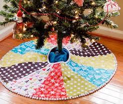 diy tree skirt happy holidays
