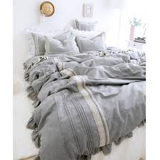 Linen Bedding Sets Find More Information About Light Grey Luxury Linen Bedding 4pcs