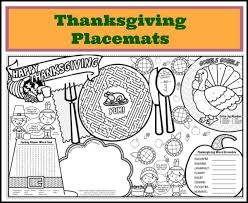 printable thanksgiving placemats u2013 festival collections