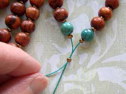 string beads necklace images Turn the string of beads into a mala necklace by bringing the ends jpg