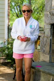patio cocktail party pullover i believe in pink