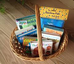 book gift baskets basket of baby books