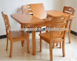 Extention Solid Wood Dining Set Rubber Wood Oval Dining Table - Rubberwood kitchen table