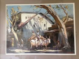 indian cart indian influences g d paulraj bullock cart street scene
