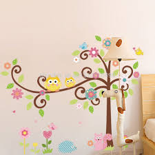 aliexpress com buy cute owl tree wall decal kindergarten diy art aliexpress com buy cute owl tree wall decal kindergarten diy art vinyl wall stickers decor mural from reliable stickers decoration murale suppliers on