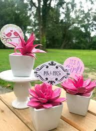 flower pot favors diy succulent party favors just a creativity