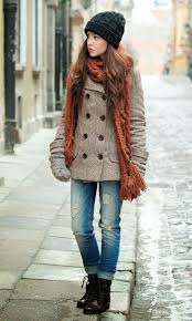cozy winter dress fashion and that hat looks for trendy girls