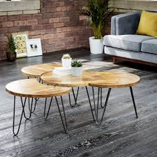 room arrangement ideas coffee tables attractive latest brown round meatl and wooden