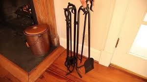 hand forged iron fireplace tools and stand set sku 36163 plow