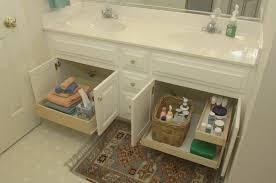 bathrooms design trent walnut effect tall storage cabinet wall