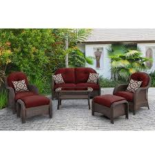 Wicker Patio Conversation Sets Shop Hanover Outdoor Furniture Newport 6 Piece Wicker Patio