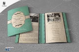 vintage style funeral template brochure templates creative market