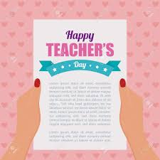 abstract teacher u0027s day letter background royalty free cliparts