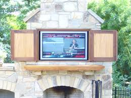 outdoor fireplace with tv outdoor fireplace tv design ideas