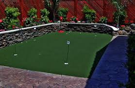 backyard putting green lighting putting greens and artificial grass sacramento landscape pics on