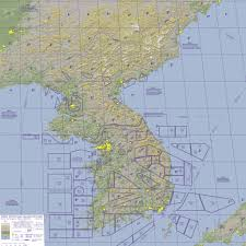 Korean Air Route Map by Combat Sim Check Lists F4 Section