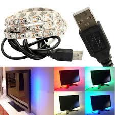 Preferidos Luz USB LED 50 CM / 100 CM 3528 fita LED DC5V impermeável  @DP41