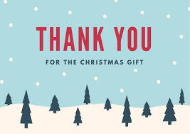 christmas thank you cards christmas thank you card wording exles for gifts