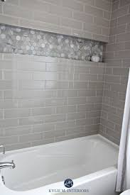 bathroom tub tile ideas pictures our bathroom remodel greige subway tile and more subway tile