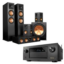 dolby atmos home theater system safeandsoundhq klipsch rp 280f 6 speaker system with denon avr