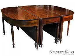 federal sheraton mahogany three part dining room table boston c federal sheraton mahogany three part dining room table boston c 1810