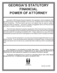Free Durable Power Of Attorney Form Download by Free Georgia Power Of Attorney Forms Adobe Pdf Word