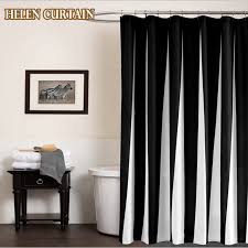 Boy Bathroom Shower Curtains Helen Curtain Creative Black And White Polyester Modern Waterproof