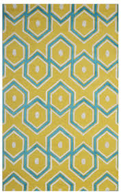 Blue Area Rugs 5x8 by Handmade Wool Modern Yellow Blue 5x8 Lt1110 Area Rug