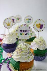 mardi gras cake decorations mardi gras cupcakes with free printables hoosier
