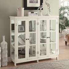 accent cabinets with doors furniture white credenza with glass doors accent cabinet with