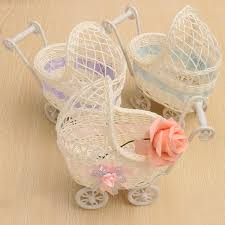 flower basket wicker pram basket baby shower party gift present