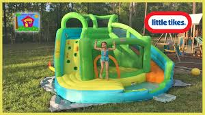 giant inflatable slide u0026 bouncer by little tikes surprises hailey