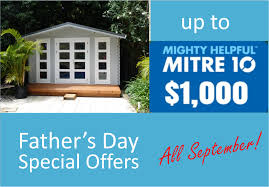 father u0027s day special offer for cabins all september yzy kit homes