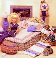 Barbie Home Decor by Vintage Crochet Pattern Pdf Fashion Doll Home Decor Desert Bedroom
