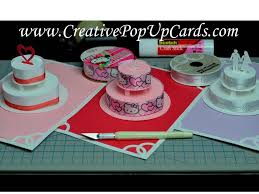 how to make a birthday cake or wedding cake pop up card tutorial