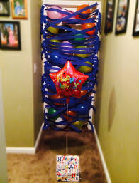a balloon avalanche as a birthday morning surprise i did this for