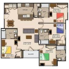 Impressive 4 Bedroom House Plans 4 Bedroom Floor Plans Impressive 4 Bedroom House Floor Plans