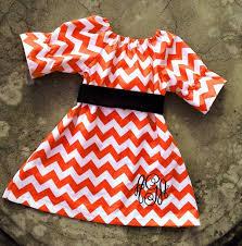 thanksgiving fall dress baby monogram orange