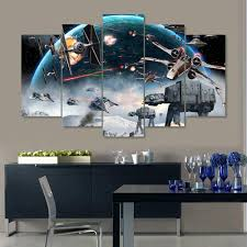 star wars battle 5 piece canvas painting empire prints star wars battle 5 piece canvas painting canvas teepeat