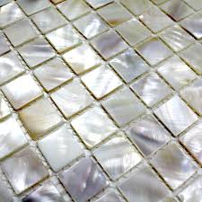 Shower Floor Mosaic Tiles by Mosaic Tile Shell For Shower Floor And Wall Bathroom Odyssee Blanc