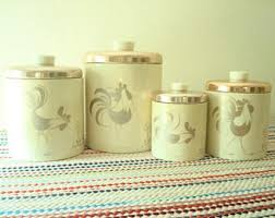 canister kitchen set metal canister set etsy