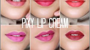 Lipstik Pixy Matte review swatch pixy lip
