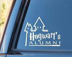 hogwarts alumni bumper sticker hogwarts alumni sticker etsy